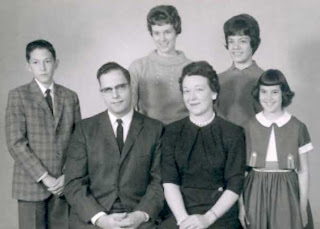 Vintage Family Portrait 1960 Sixties Black and White