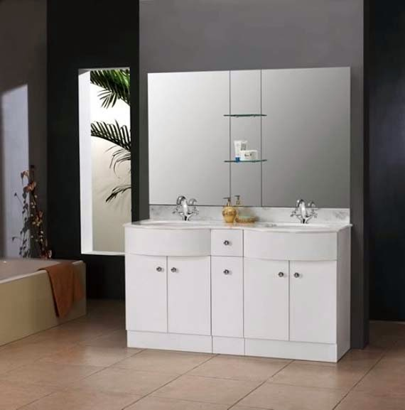 Double Sink Vanities for Small Bathrooms - AyanaHouse