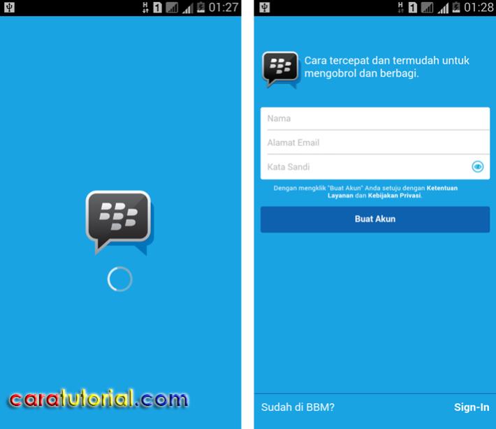 Mendaftar Akun BBM baru di Android