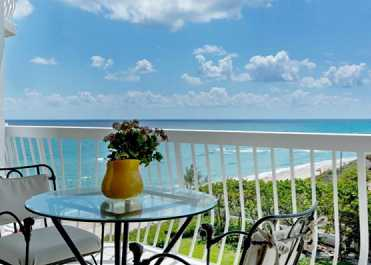 BREAKFAST ON  YOUR PALM BEACH TERRACE LOOKING AT THE OCEAN