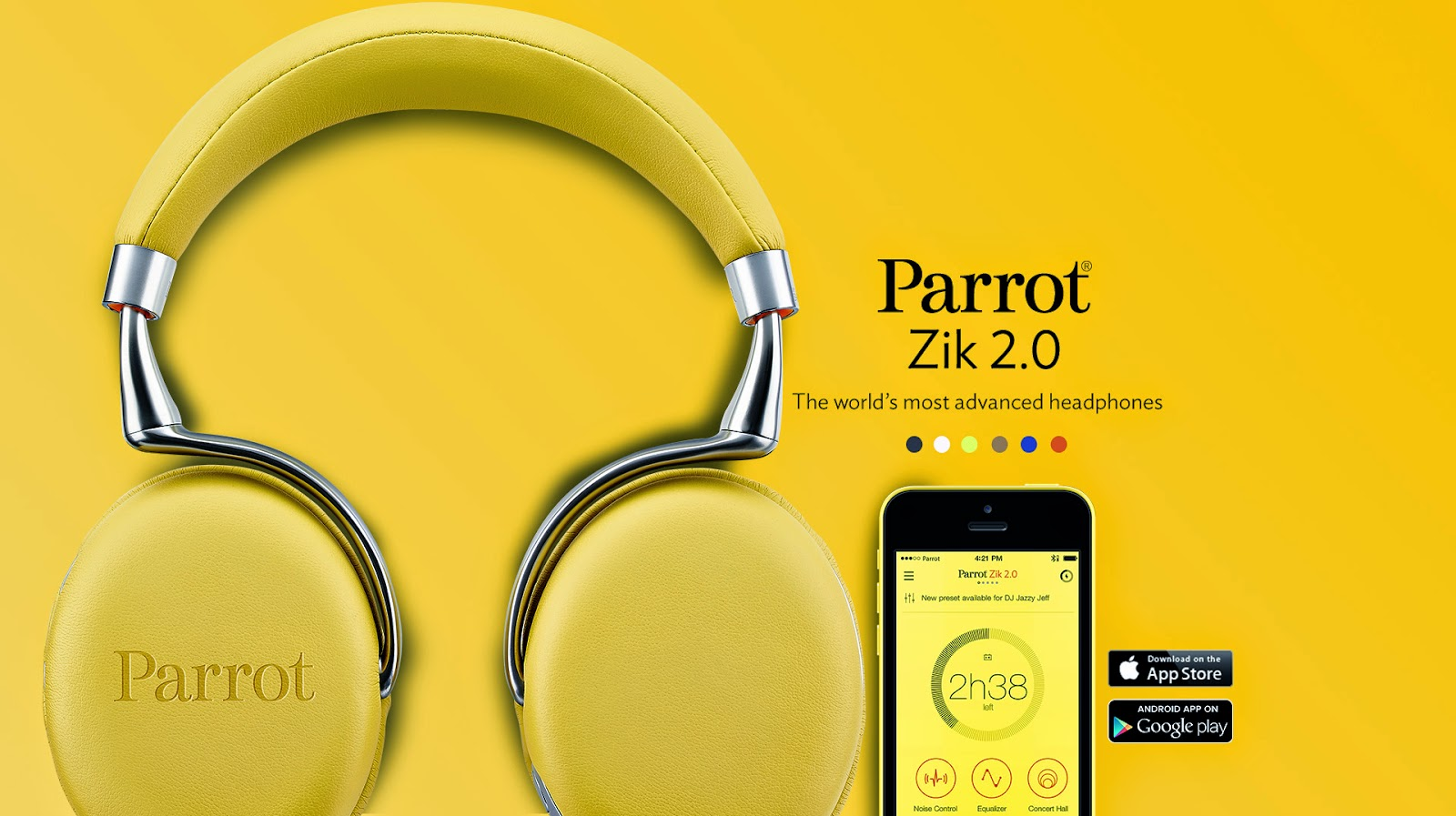 parrot zik 2 0 the world 39 s most advanced headphones modernistic design. Black Bedroom Furniture Sets. Home Design Ideas