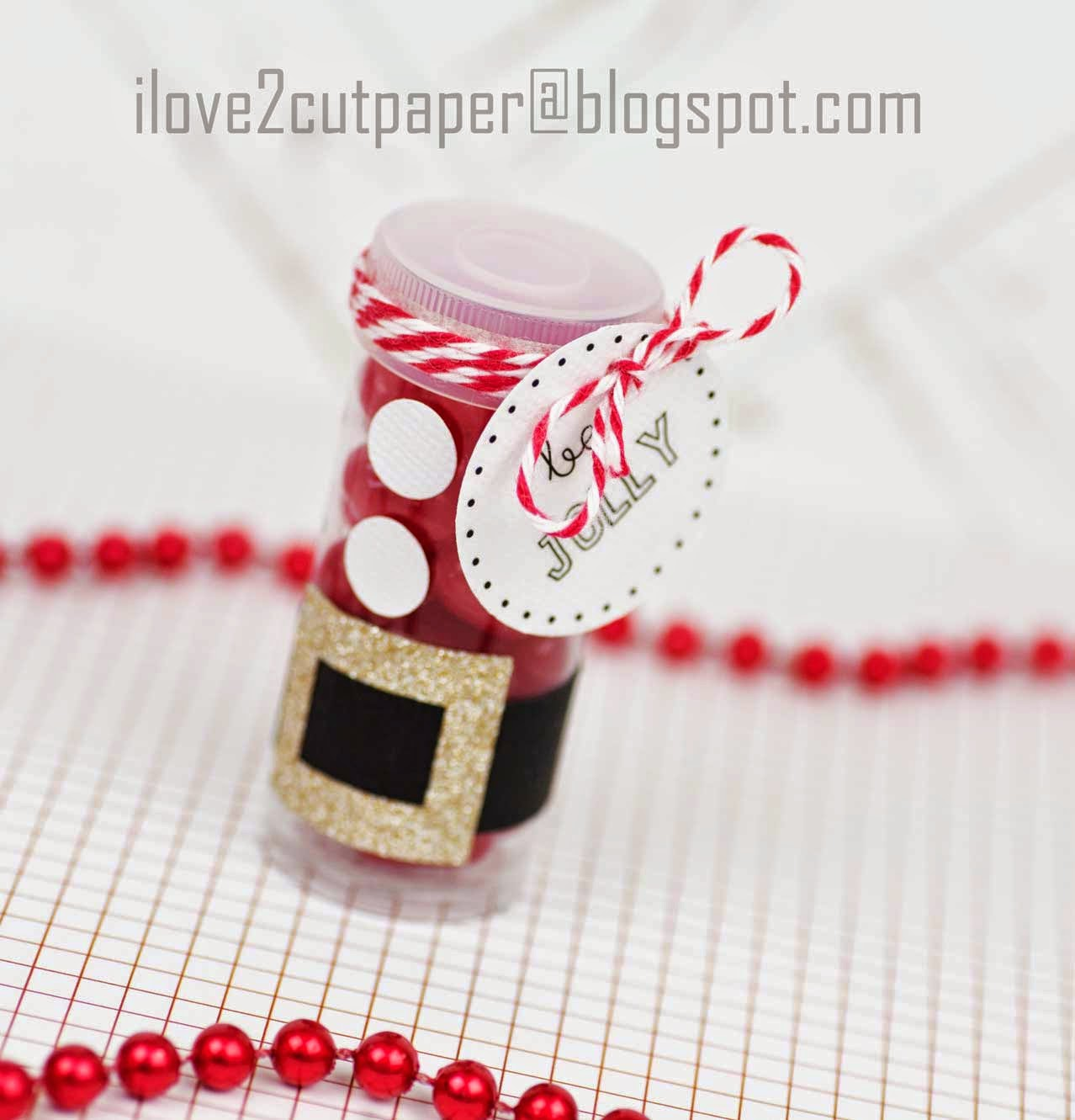 Santa Candy Tube Gift Idea