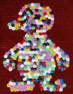 Hama beads penguin.