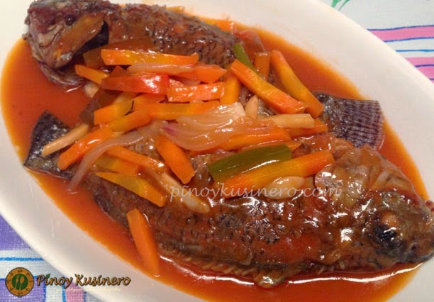 Tilapia escabeche pinoy kusinero for Fish escabeche recipe