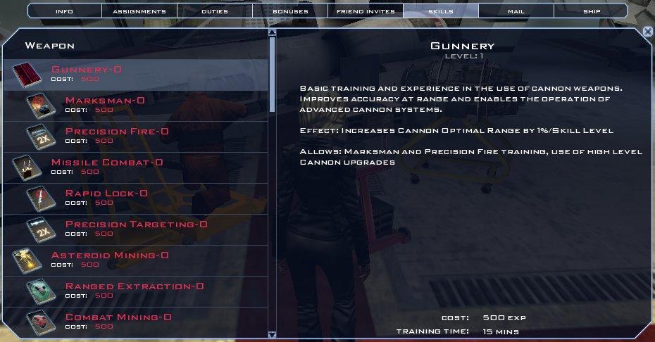 Battlestar Galactica Online - Character's Skills