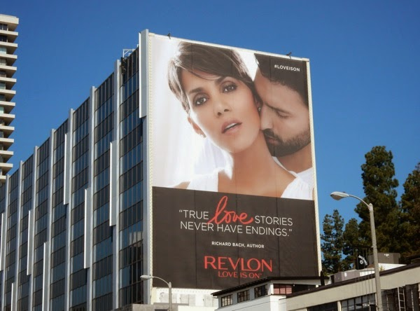 Giant Halle Berry Revlon True love stories billboard