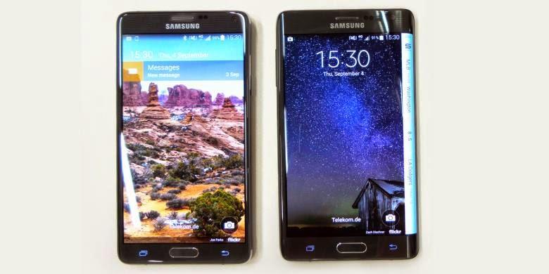 Spesifikasi dan Harga Galaxy Note 4 dan Note Edge