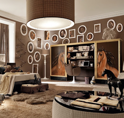 dormitorio de caballos