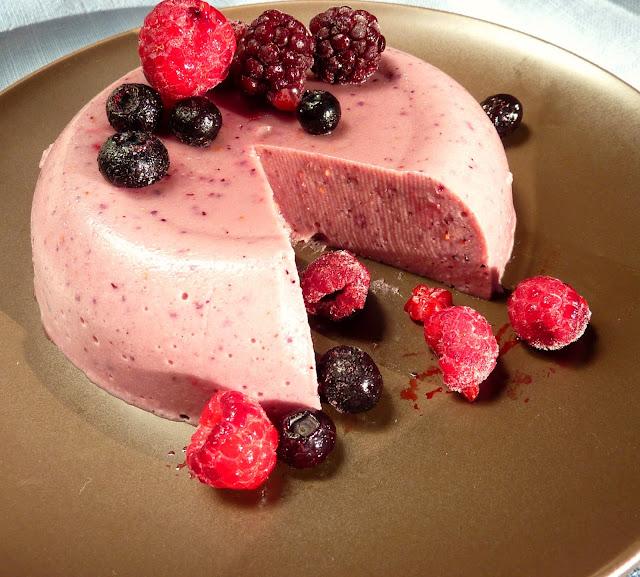 gelatina de berries sin lacteos