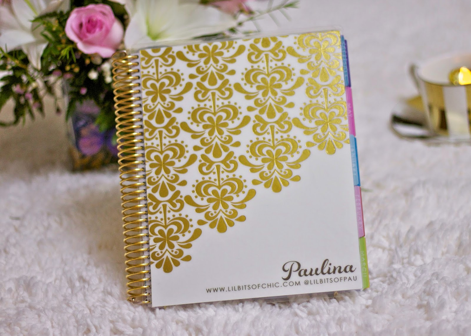 gold foil planner in white, gold metallic band, gold metallic band for your planner, erin condren customizable cover, coupon code erin condren, san diego blogger