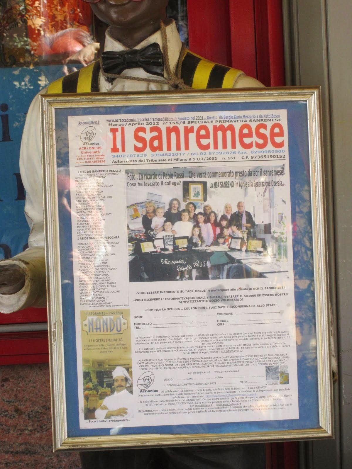 Super Oscar a San Remo..