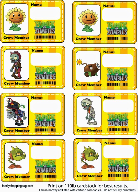 Plants vs Zombies Free Printables. - Oh My Fiesta! for Geeks