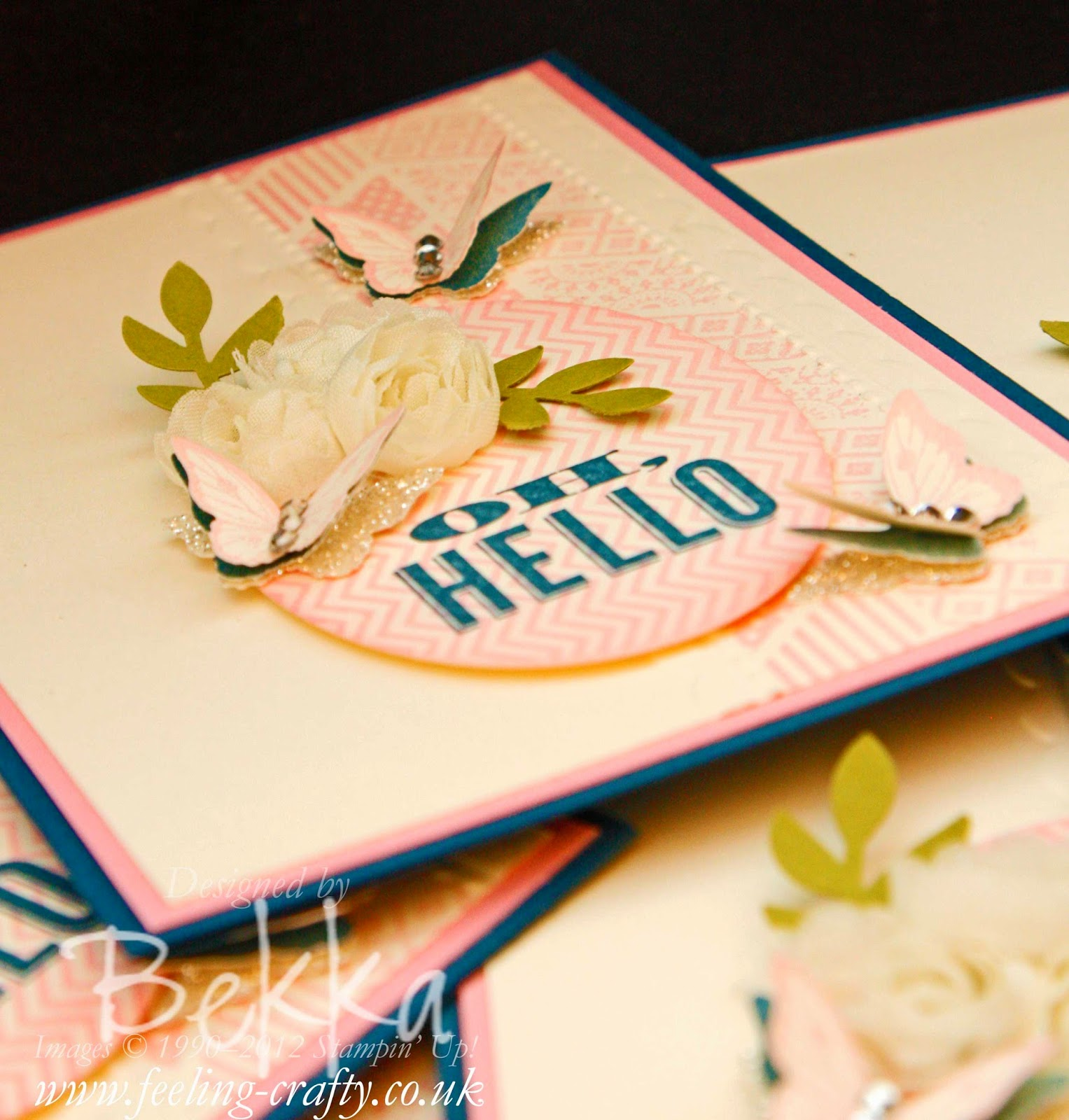 Oh Hello Stamps from Stampin' Up! or should that be Oh Goodbye - grab them here before they are gone at the end of June