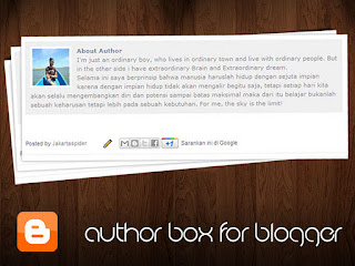 menambah about author blogger