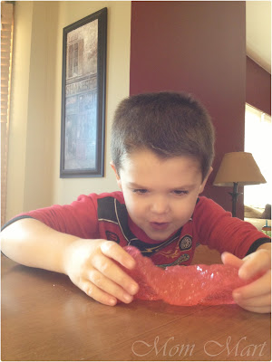 Kid Craft: Playing with homemade slime.