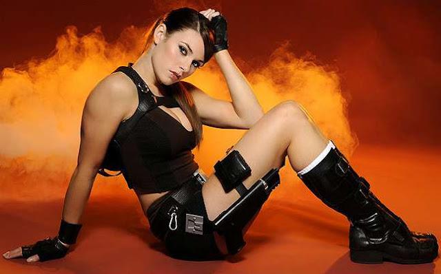 She was Lara Croft model