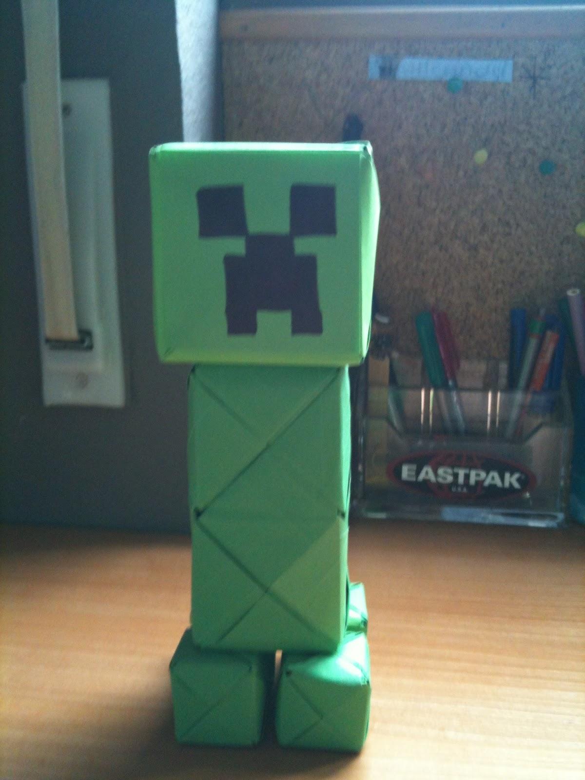 Origami Music And Stuff Paper Creeper Minecraft