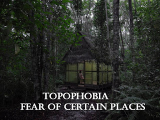 Topophobia, fear of certain places, fear of performing