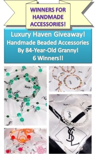 handmade beaded accessories necklace bangles giveaways