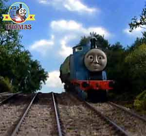 Thomas the train & friends Edward the great train engine with a wagon of wooden house furniture