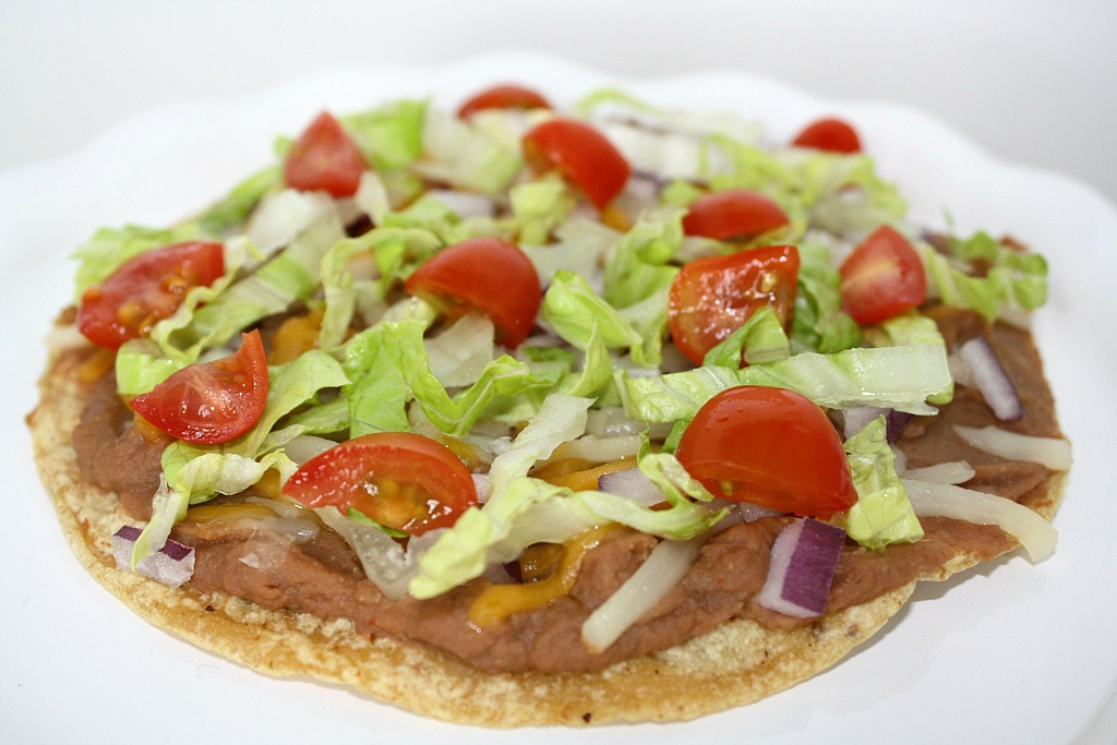 The Garden Grazer: Bean Tostadas