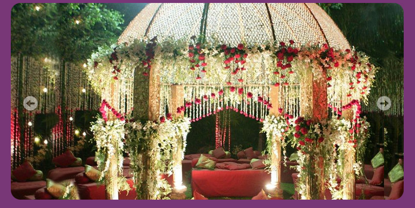 A wedding planner indian wedding hall shaadi mandap for Decoration 4 wedding