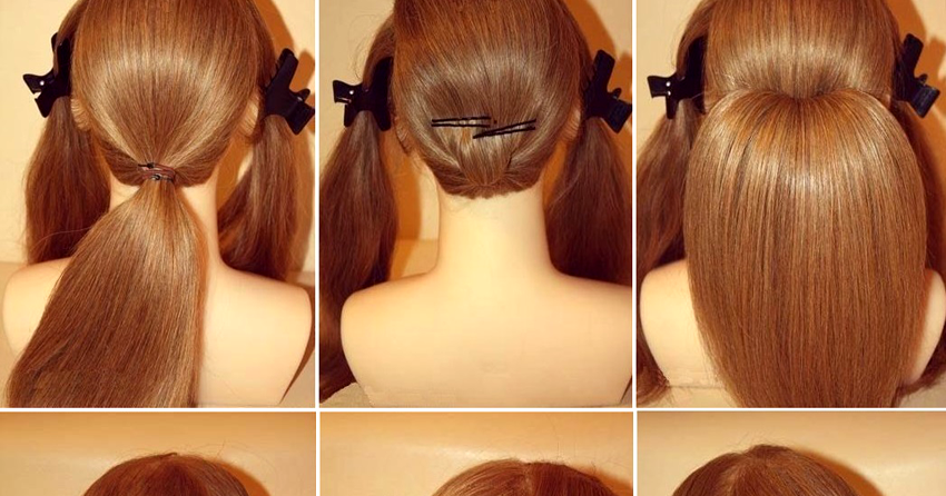 DIY How To Stunning Roll Up Wedding Updo Hairstyle
