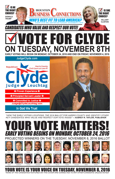 JUDGE CLYDE LEUCHTAG VALUES OUR VOTE, SUPPORT AND COMMUNITY!