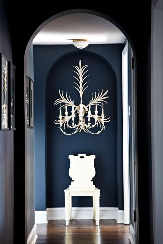 Slate blue through the front door for Slate blue front door