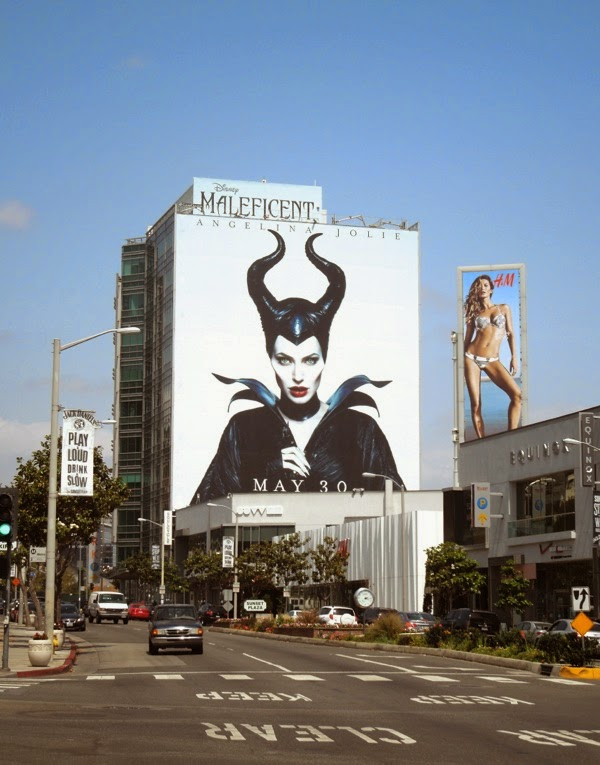Giant Disney Maleficent movie billboard