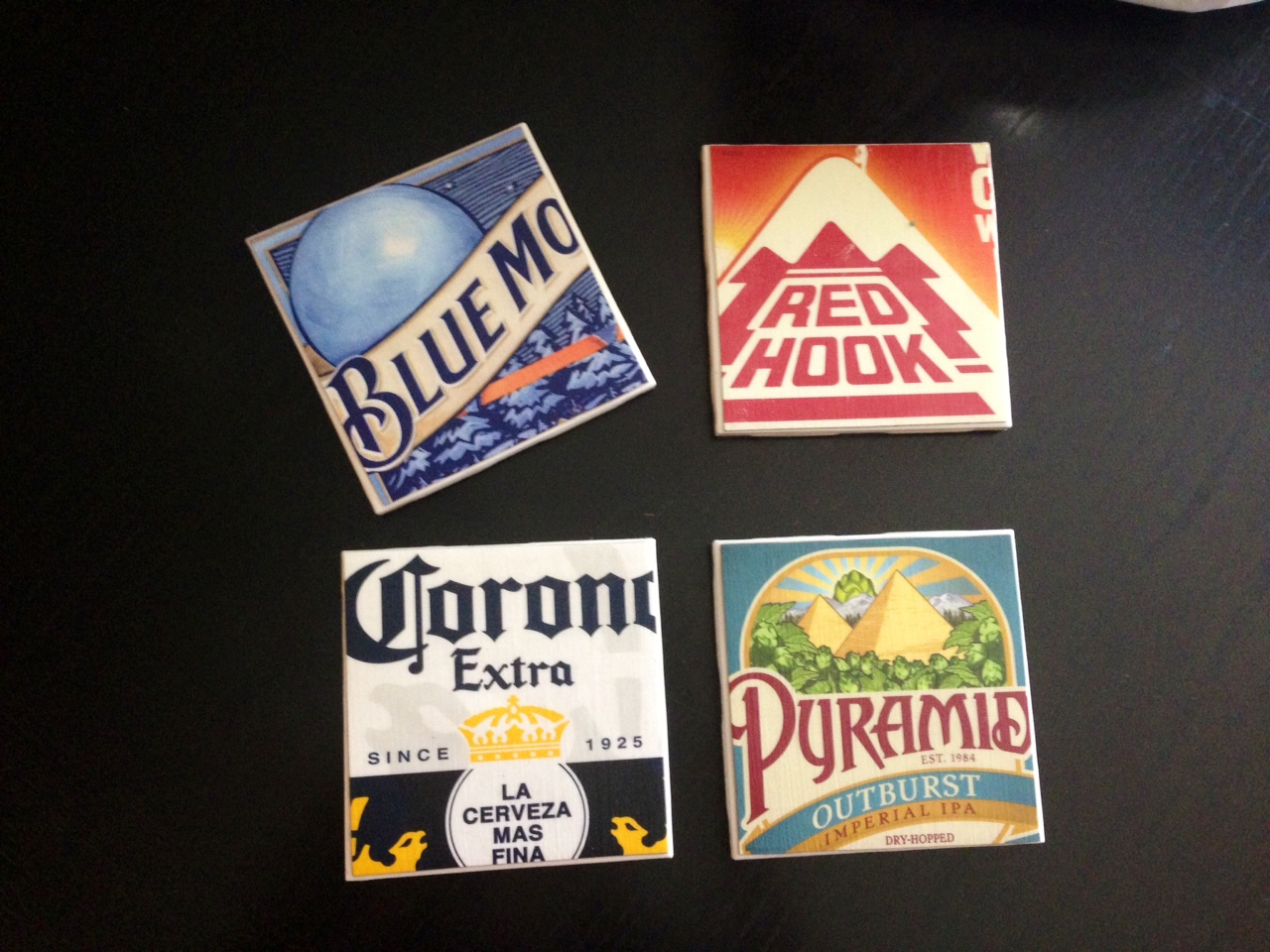 Post grad crafting diy beer coasters for Homemade coaster ideas
