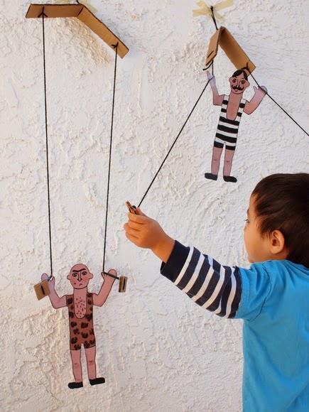 DIY climbing cardboard toys circus men