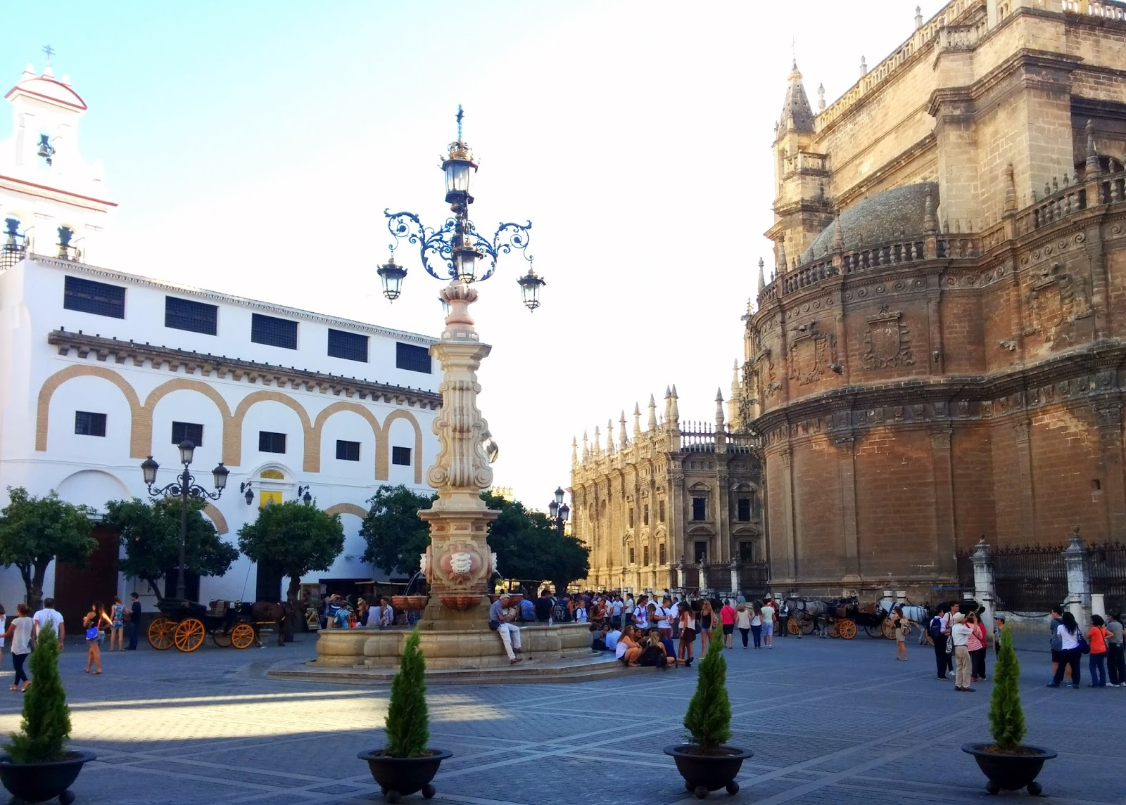 Plaza de Santa Maria / Cathedral of Seville /  Catedral de Sevilla  |  Postcard from Andalucía: Sevilla  on afeathery*nest  |  http://afeatherynest.com