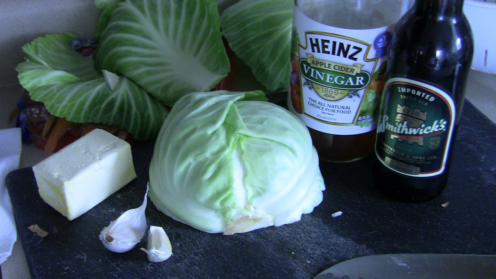 how to cut cabbage into bite-sized pieces