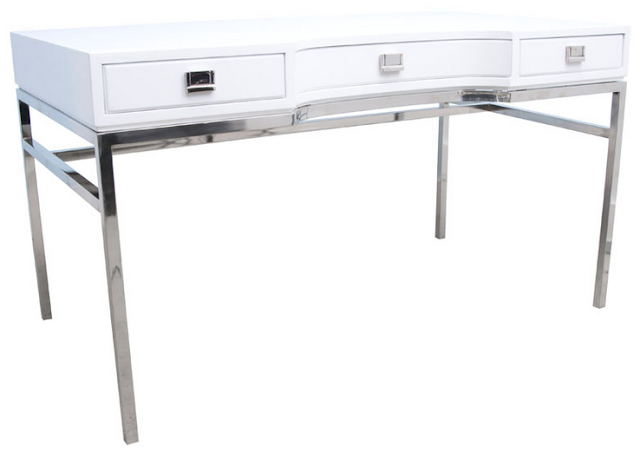 and chic fabulous finds modern white desks in every price range