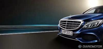 Novo Mercedes Classe C Azul Frente
