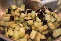 Diced eggplant