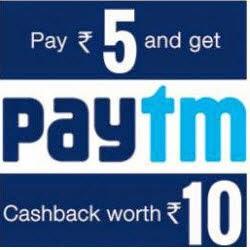 Get Rs. 105 PayTm Wallet Balance at Rs.100 –Johareez
