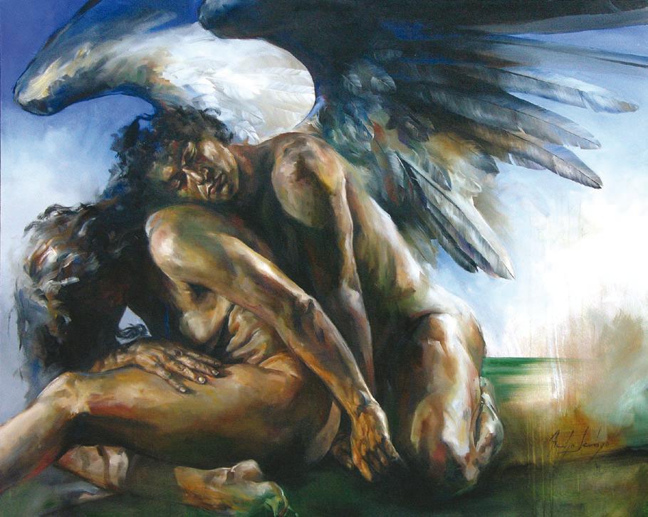 Los hombres desnudos de yoga los angeles