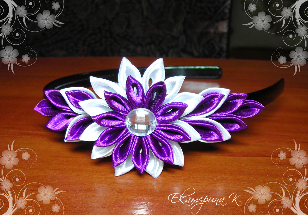 Цветы своими руками с канзаши