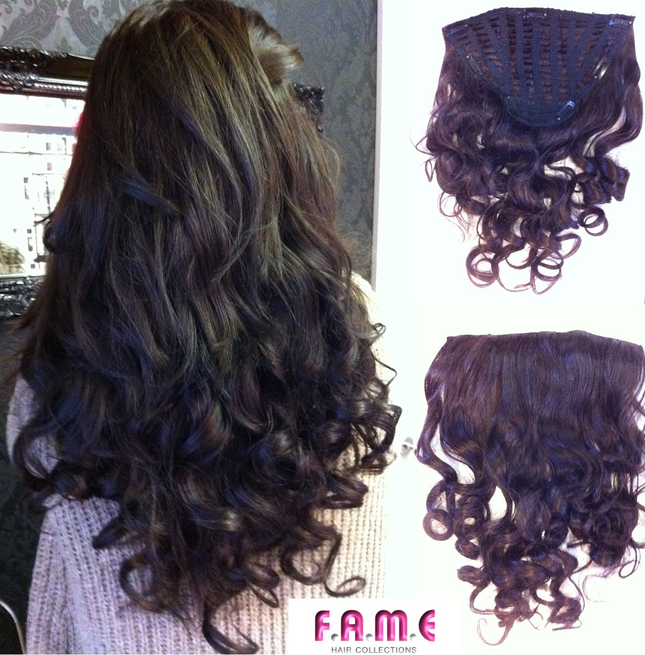 Fame One Piece Wavy Clip In Hair Extensions Hair Extensions