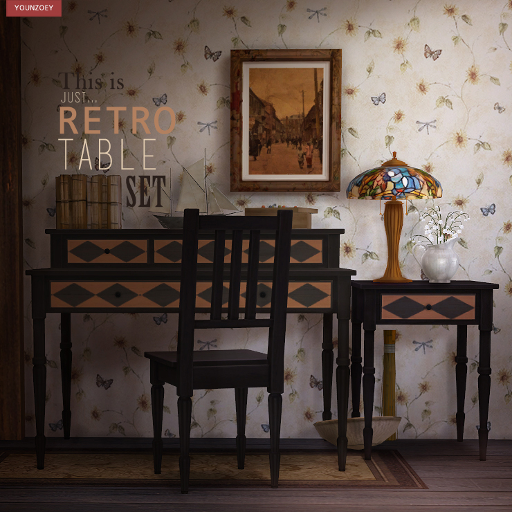 My Sims 4 Blog Retro Tables Desk And Chairs By Youngzoey