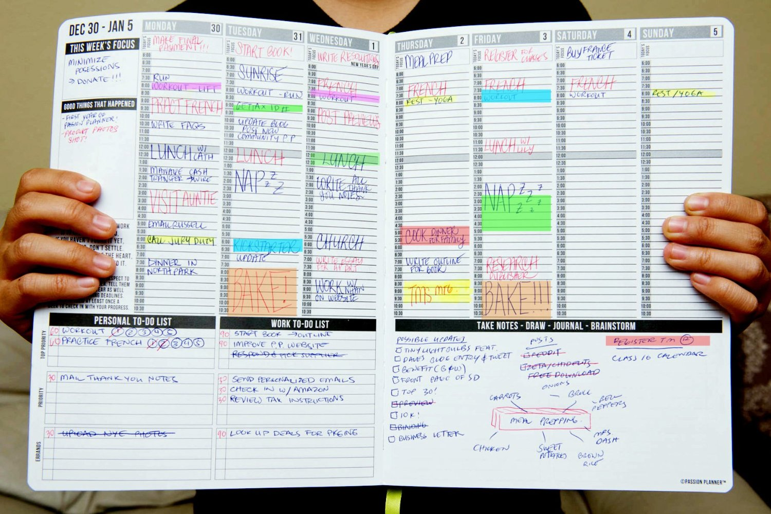 Passion planner wife on the run for Create planner online