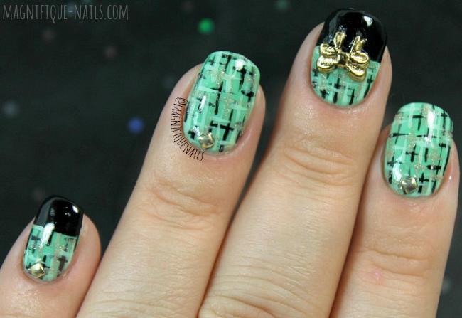 Magically Polished Nail Art Blog Tweed Nails