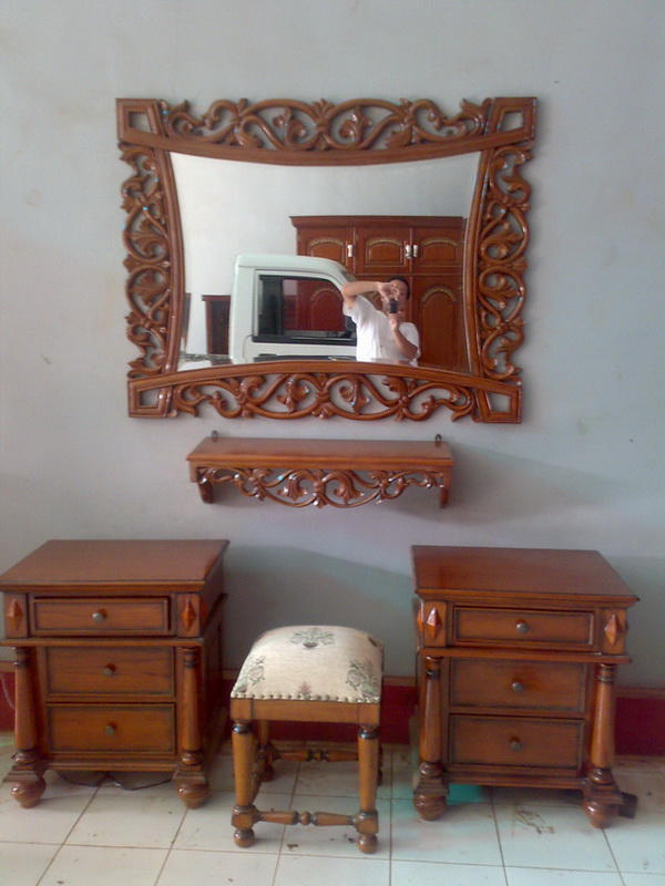 Teak Frame And Mirror Made In Indonesia