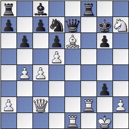 Partida de ajedrez Gamonal vs. Koblenz, posición después de 24… fxg3