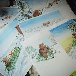 Angela Kommoß Illustration,  Kinderbuchillustrationen, Aquarell