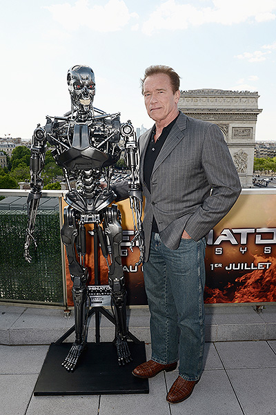 Terminator Arnold Schwarzenegger Photo call at fotokolle in Paris