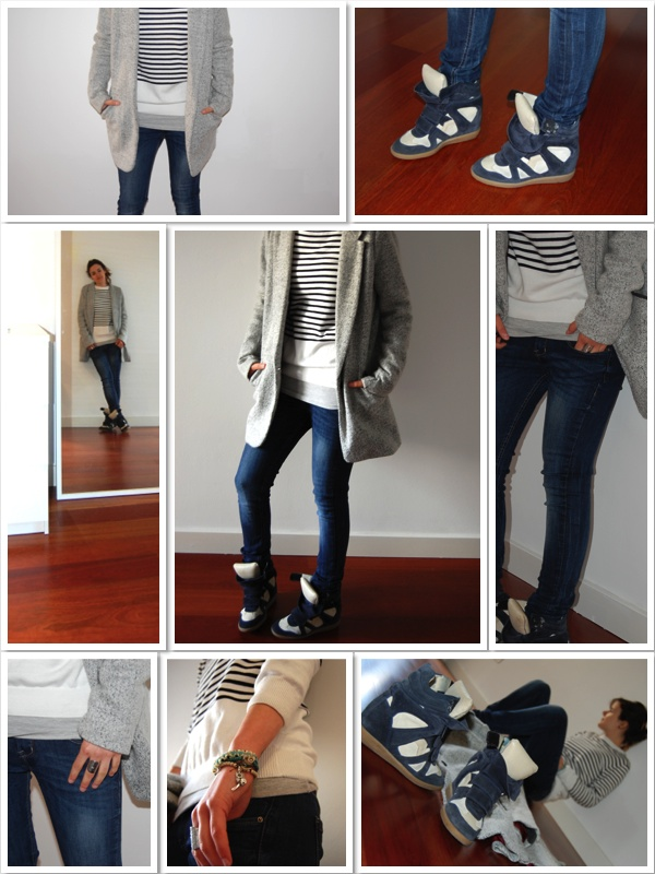 Outfit look isabel marant stripes