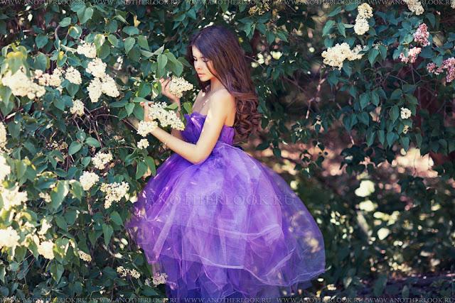 сиреневое платье для тетей на прокат